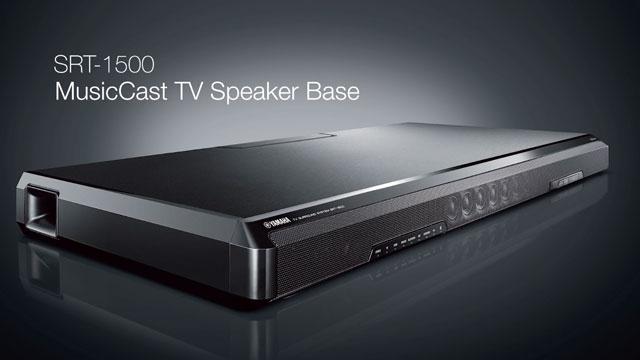 SRT-1500 MusicCast TV Speaker Base Overview